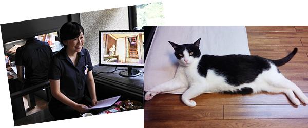 ご案内してくださった招き猫美術館の学芸員さん。ありがとうございます!