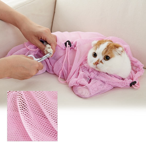 ニャンメッシュ(猫用保定網袋)